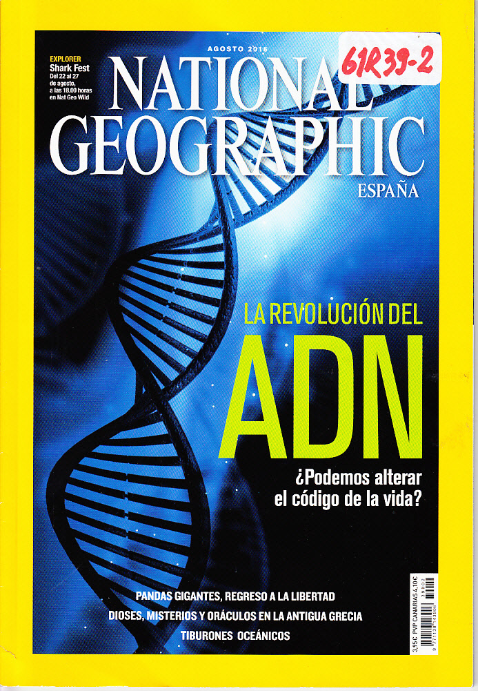 Revista National Geographic La revolución del ADN