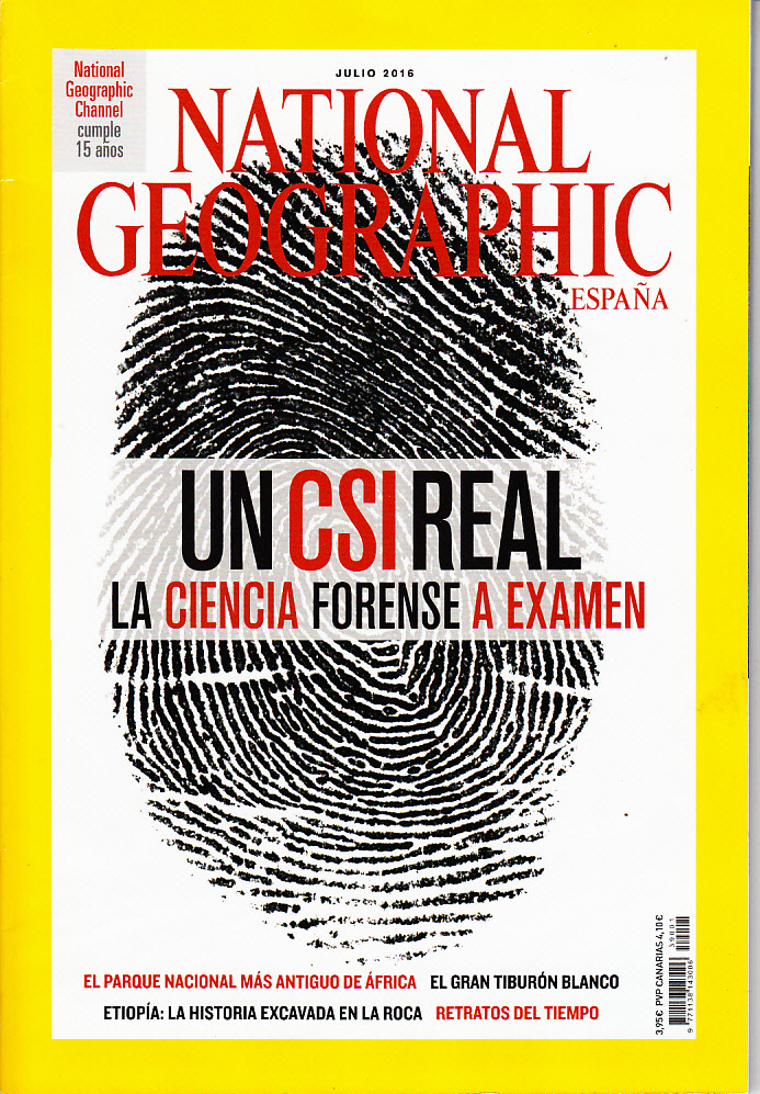 Revista National Geographic Un CSI real